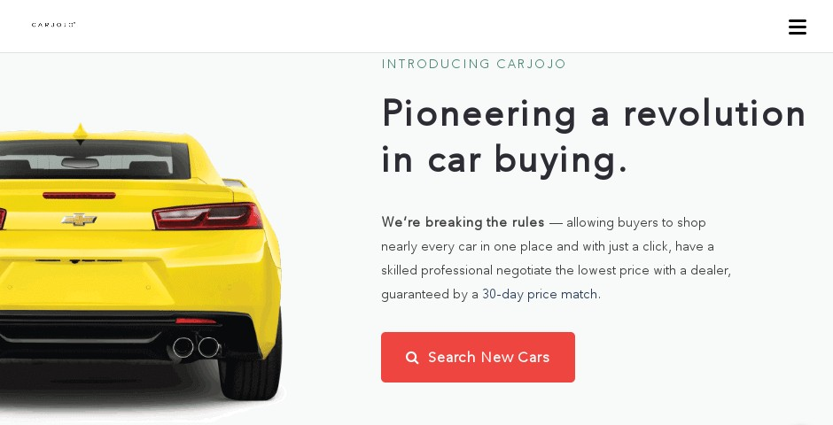 Nominee - Carjojo: The Better Way to Buy a Car