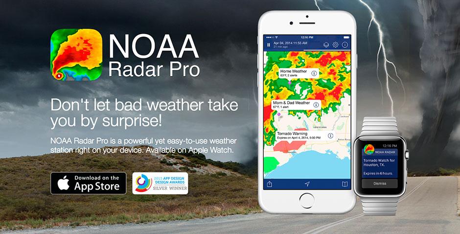 Webby Award Nominee - NOAA Radar Pro