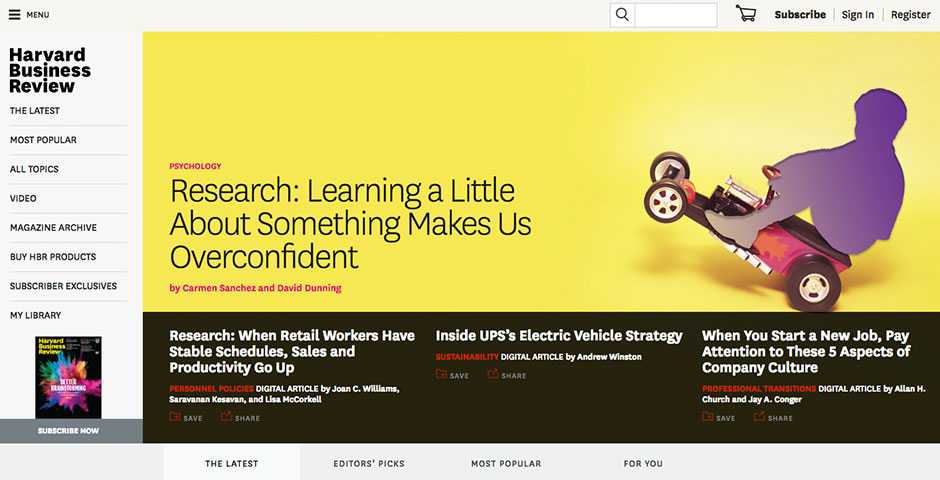 People's Voice / Webby Award Winner - Harvard Business Review