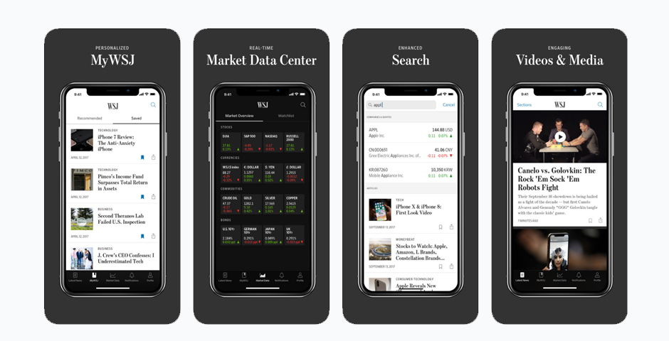Webby Award Winner - The Wall Street Journal iOS App