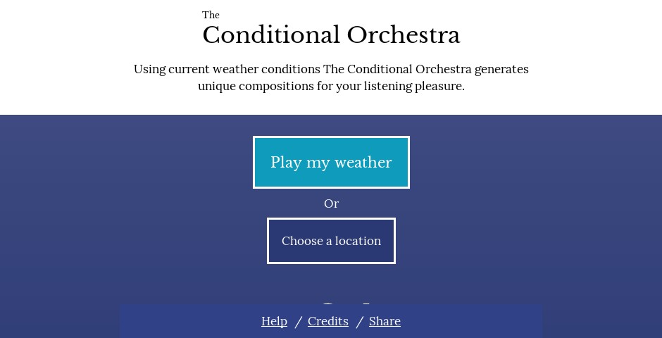 Nominee - The Conditional Orchestra