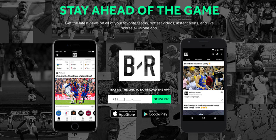 Webby Award Winner - Bleacher Report App