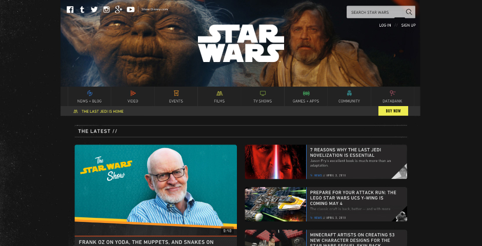 People's Voice / Webby Award Winner - starwars.com