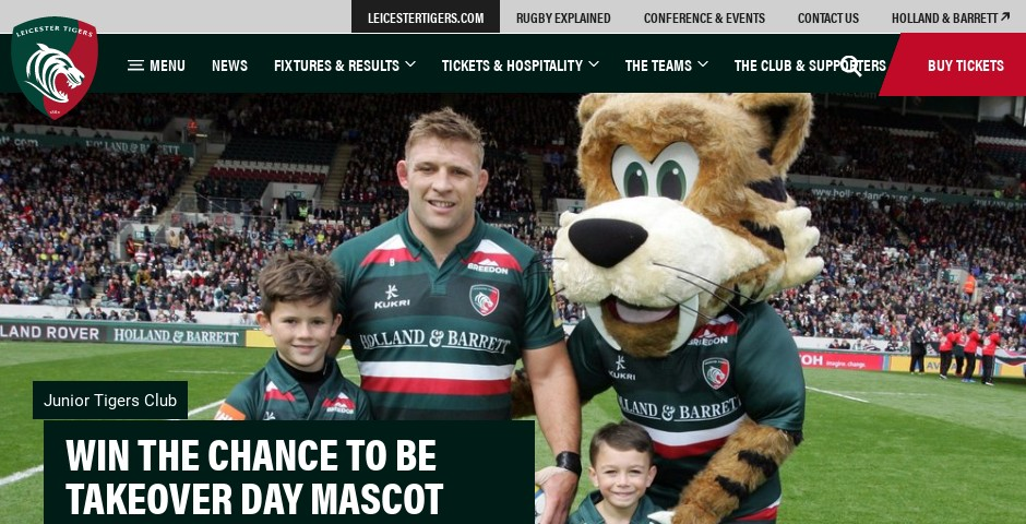 Nominee - Leicester Tigers Website