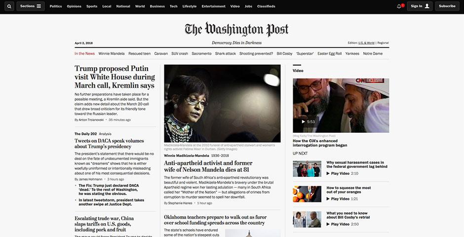 Webby Award Nominee - The Washington Post