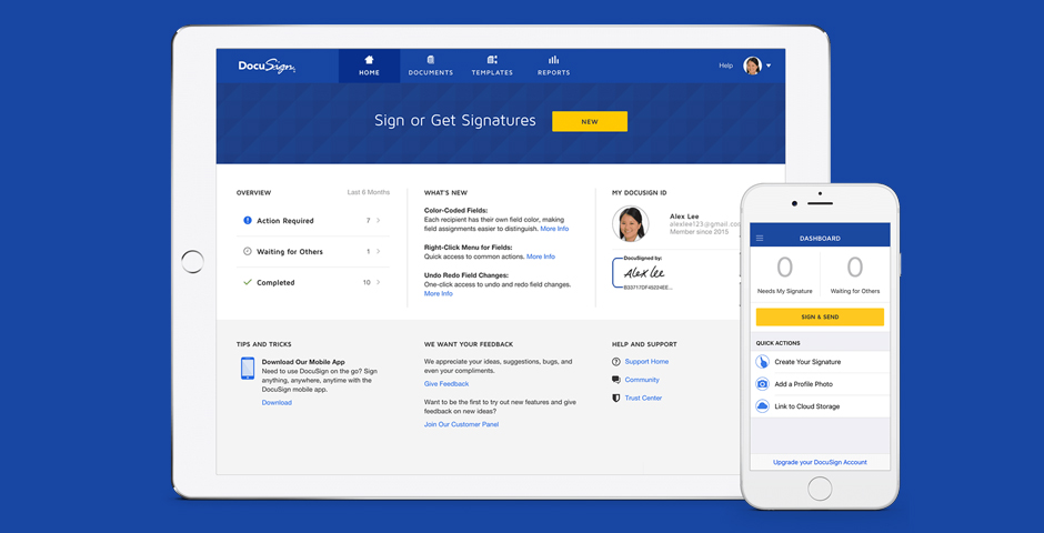Webby Award Winner - DocuSign