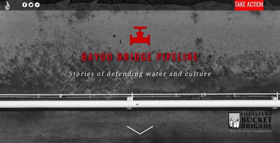 Nominee - Bayou Bridge Pipeline: Stories of defending water and culture