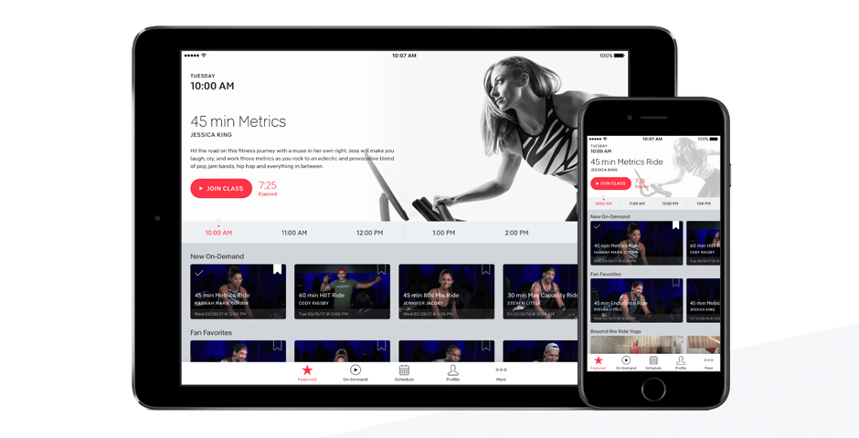 Webby Award Winner - Peloton app