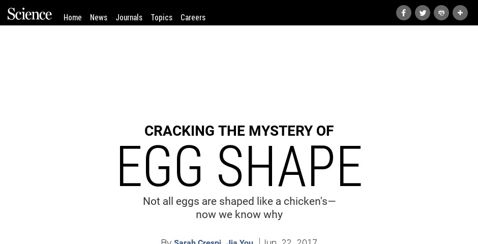 Nominee - Cracking the Mystery of Egg Shape