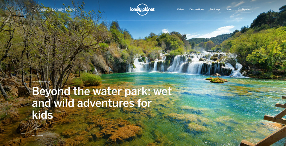 Nominee - Lonely Planet Website