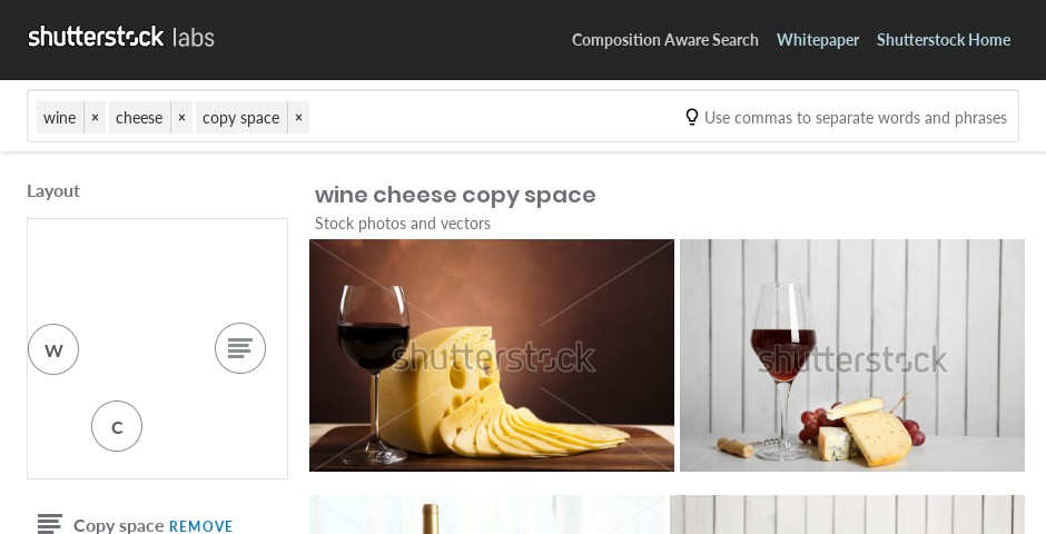 Nominee - Composition Aware Search by Shutterstock