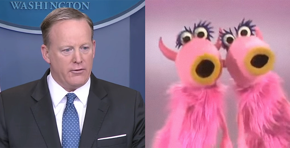 People's Voice - The Late Show with Stephen Colbert: Finally, The Muppets Collaborate With Sean Spicer