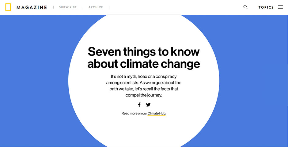 Webby Award Winner - Seven Things to Know About Climate Change