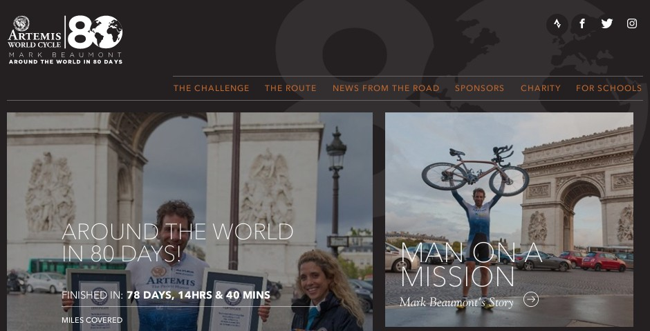 Webby Award Nominee - Artemis World Cycle - Around the World in 80 Days, Mark Beaumont