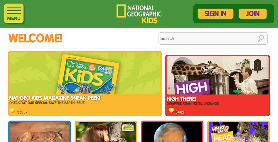 2018 Webby Winner - National Geographic Kids