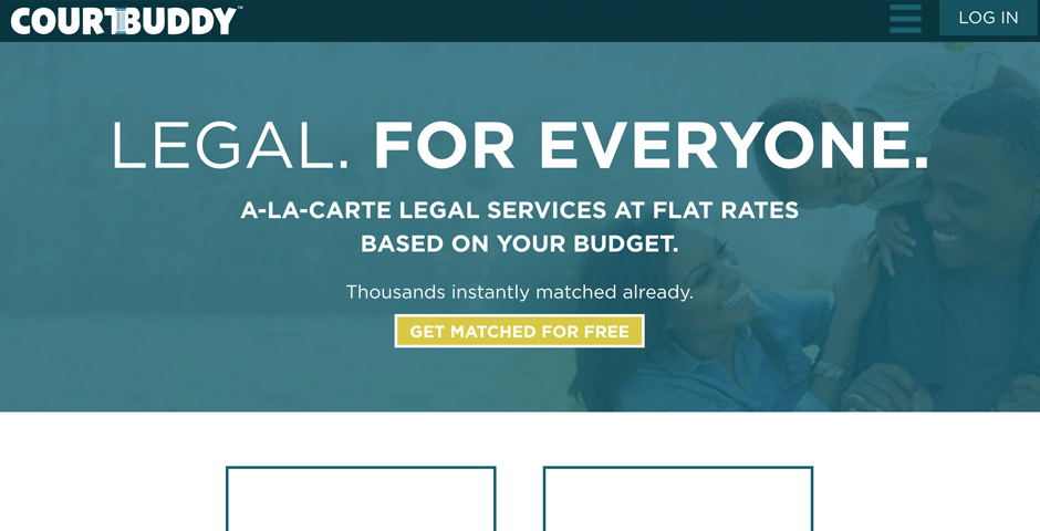 2018 Webby Winner - Courtbuddy.com  - Legal. For Everyone.