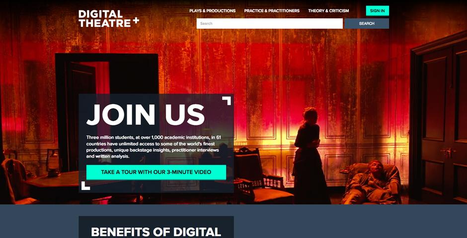 Webby Award Nominee - Digital Theatre+