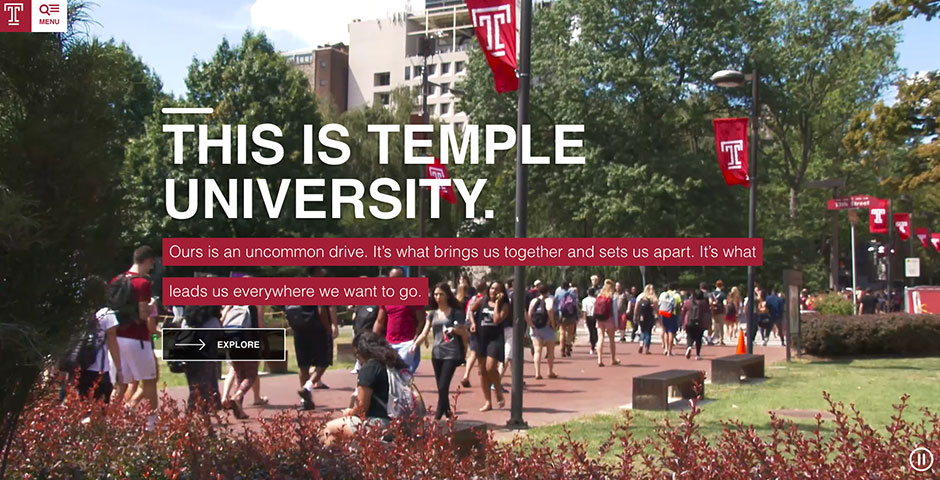 Webby Award Nominee - Temple University: Next Stop