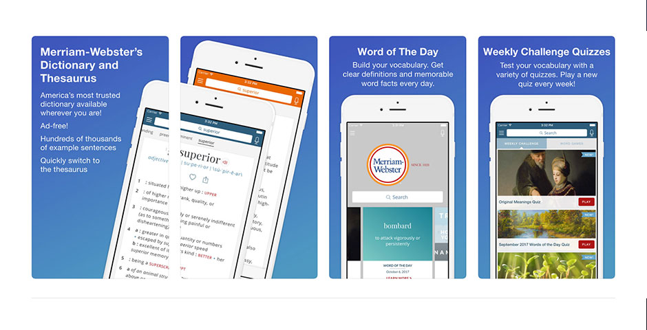 Merriam-Webster Dictionary App -- The Webby Awards