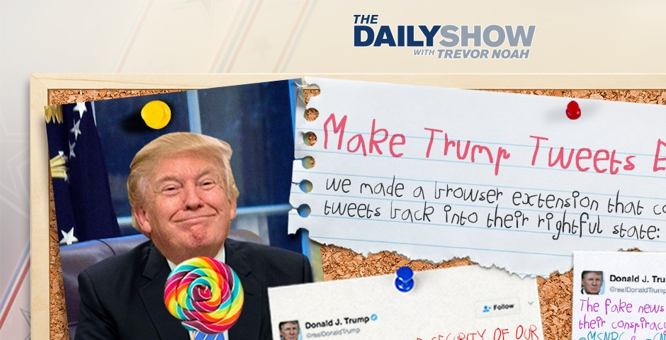 "People's Voice - ""The Daily Show"": Make Trump Tweets Eight Again"