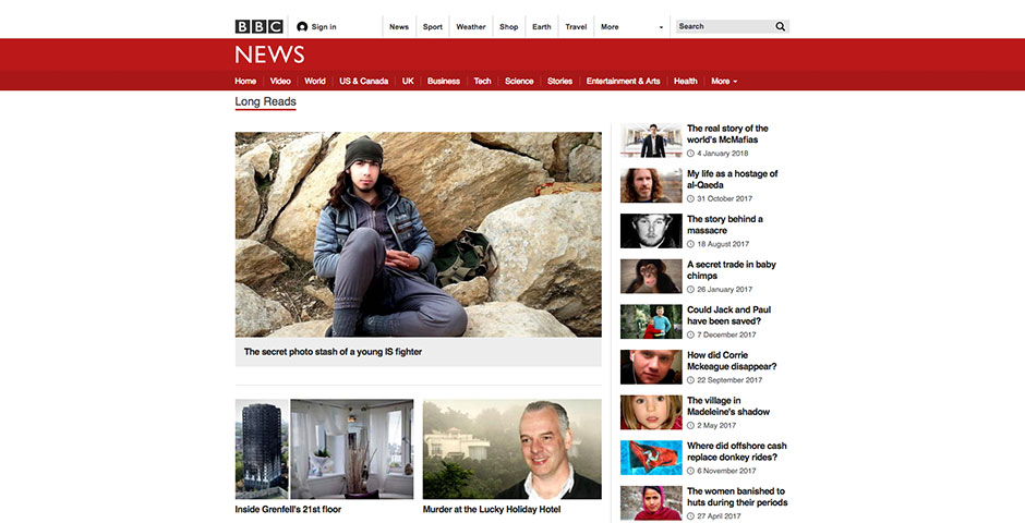 Nominee - BBC News – Longform