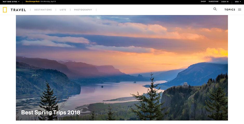 Webby Award Winner - National Geographic Travel
