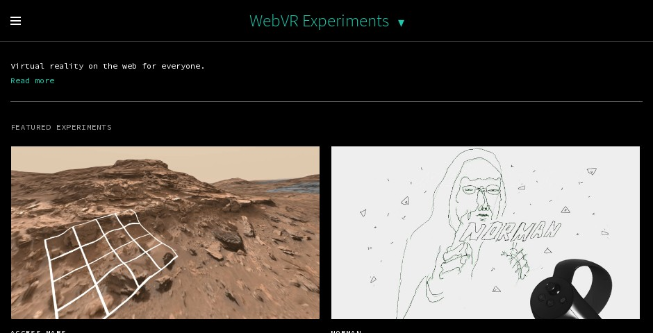 Webby Award Nominee - WebVR Experiments