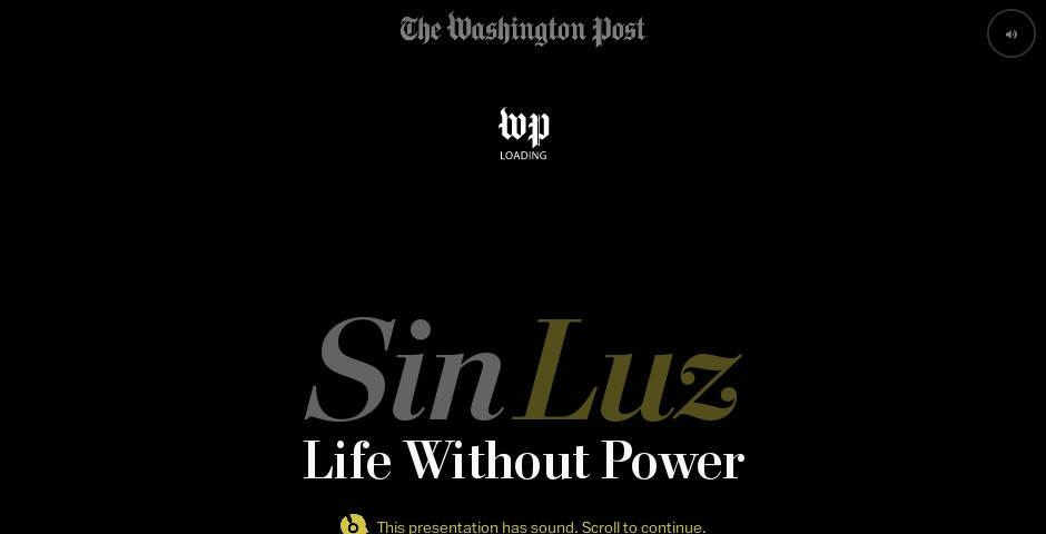 Nominee - Sin Luz: Life without power in Puerto Rico