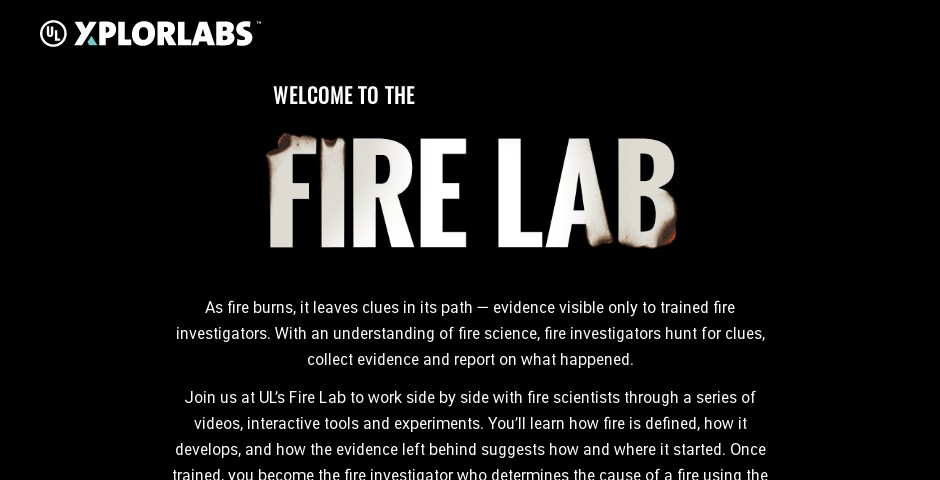 Nominee - UL XplorLabs: Fire Forensics Campaign