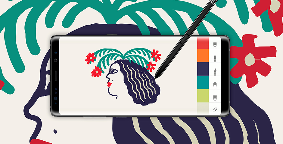 Webby Award Nominee - Galaxy Note8: Fresh Ink