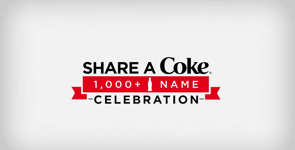Webby Award Nominee - Share a Coke 1,000 Name Celebration