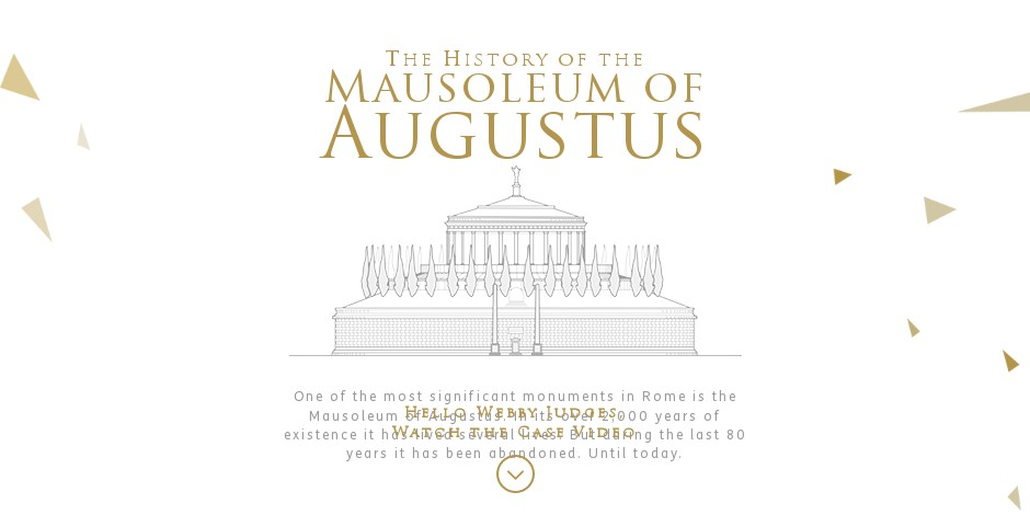 Webby Award Winner - The History of the Mausoleum of Augustus