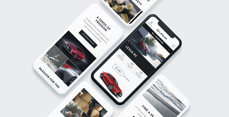 Nominee - Lexus Australia website