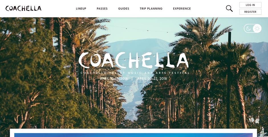Webby Award Nominee - Coachella
