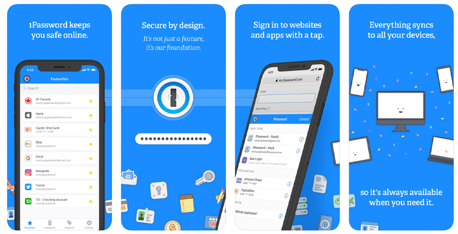 Webby Award Winner - 1Password for iOS