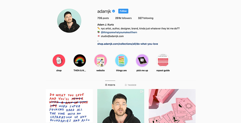"Nominee - adamjk ""truly"" personal brand because life is hard and we are all trying"