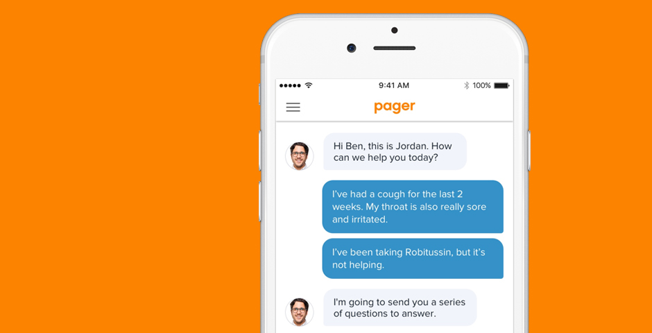 Webby Award Winner - Pager: The Digital Front Door to a Connected Care Experience