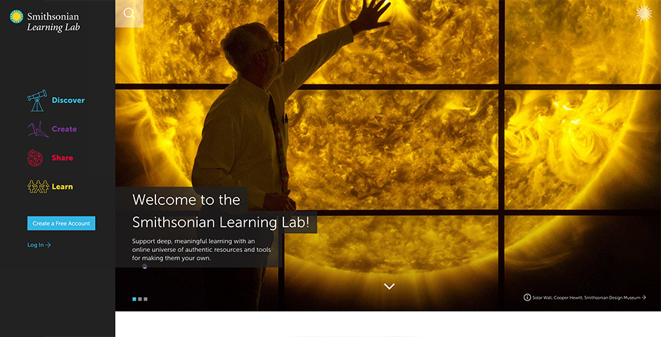 Webby Award Winner - Smithsonian Learning Lab