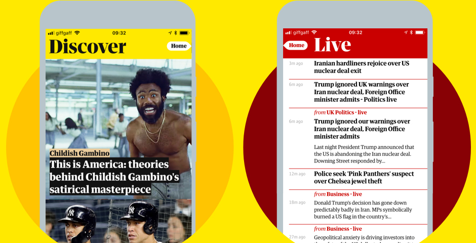 Webby Award Winner - The Guardian app for iOS and Android