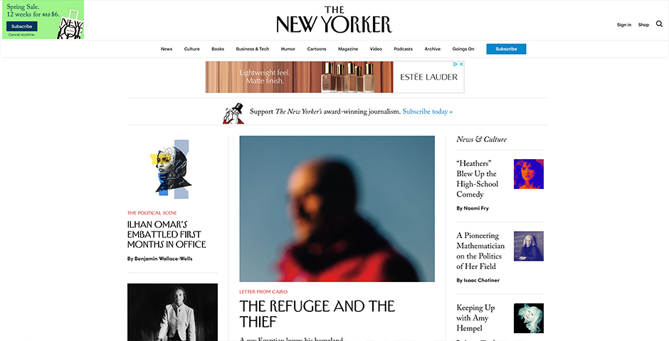 Nominee - Writing at newyorker.com