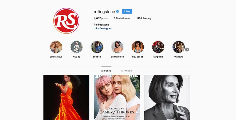 Webby Award Nominee - Rolling Stone Instagram