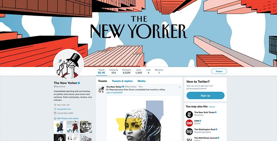 Nominee - The New Yorker on Social Media