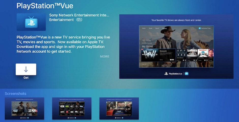 PlayStation Vue -- The Webby Awards