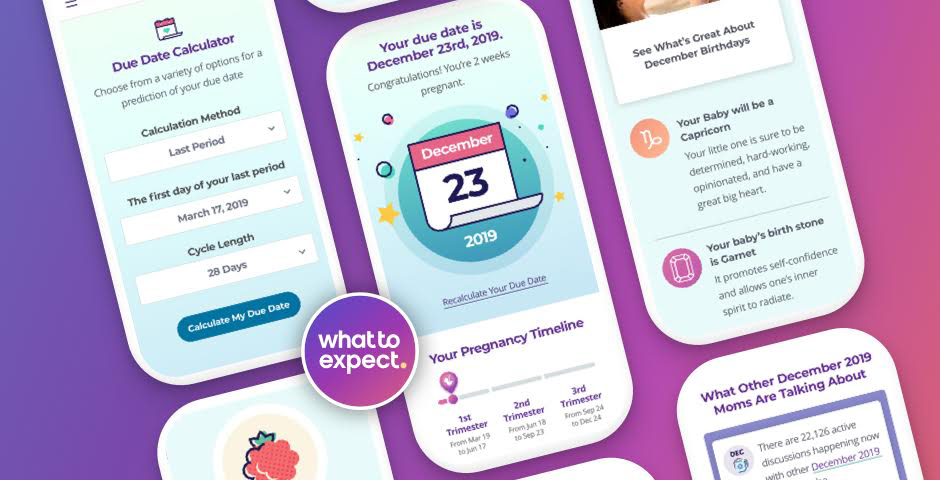 Webby Award Winner - What to Expect's Pregnancy Due Date Calculator