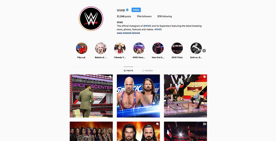 Webby Award Nominee - WWE on Instagram