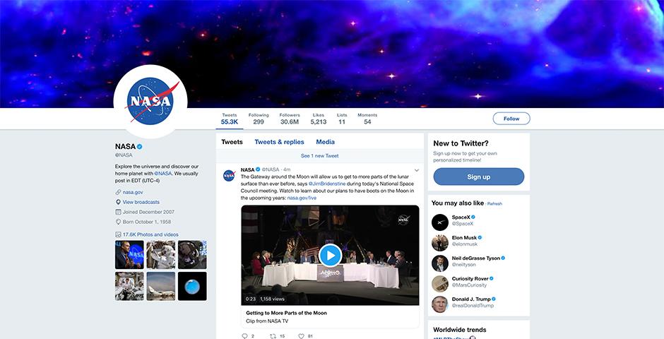 People's Voice / Webby Award Winner - NASA Social Media
