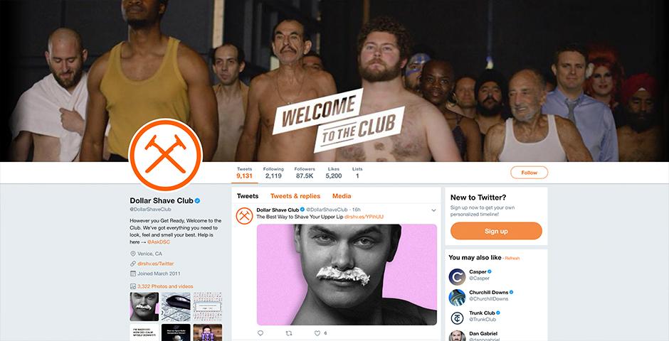 Nominee - Dollar Shave Club Social Media