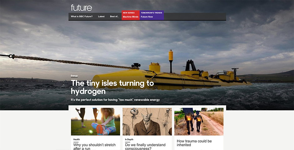 Webby Award Winner - BBC Future