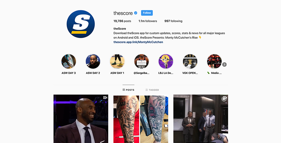 Nominee - theScore Instagram