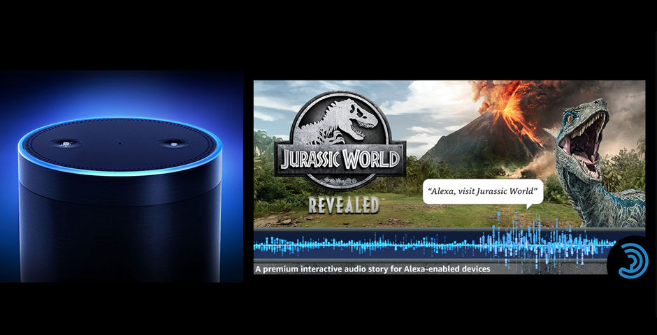 Honoree - Jurassic World Revealed, interactive audio story